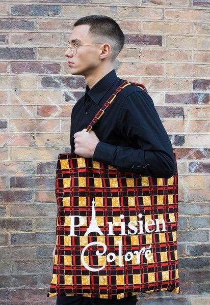 Image of Tote bag Damier Parisien Coloré XXL 20% OFF