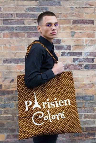Image of Tote bag Ananas Parisien Coloré XXL 20% OFF