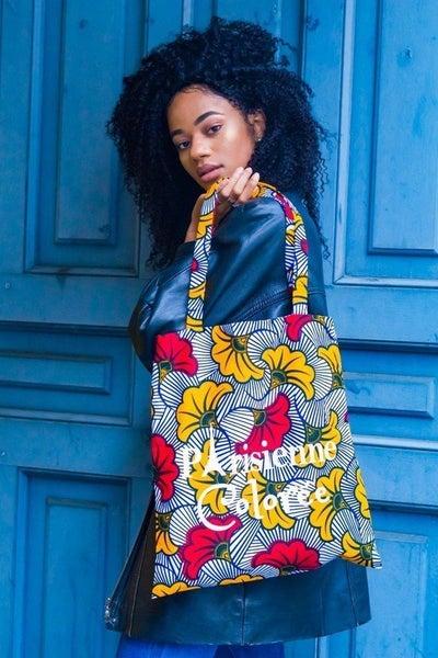 Image of Tote Bag Fleurs De Mariage Parisienne Colorée 20% OFF