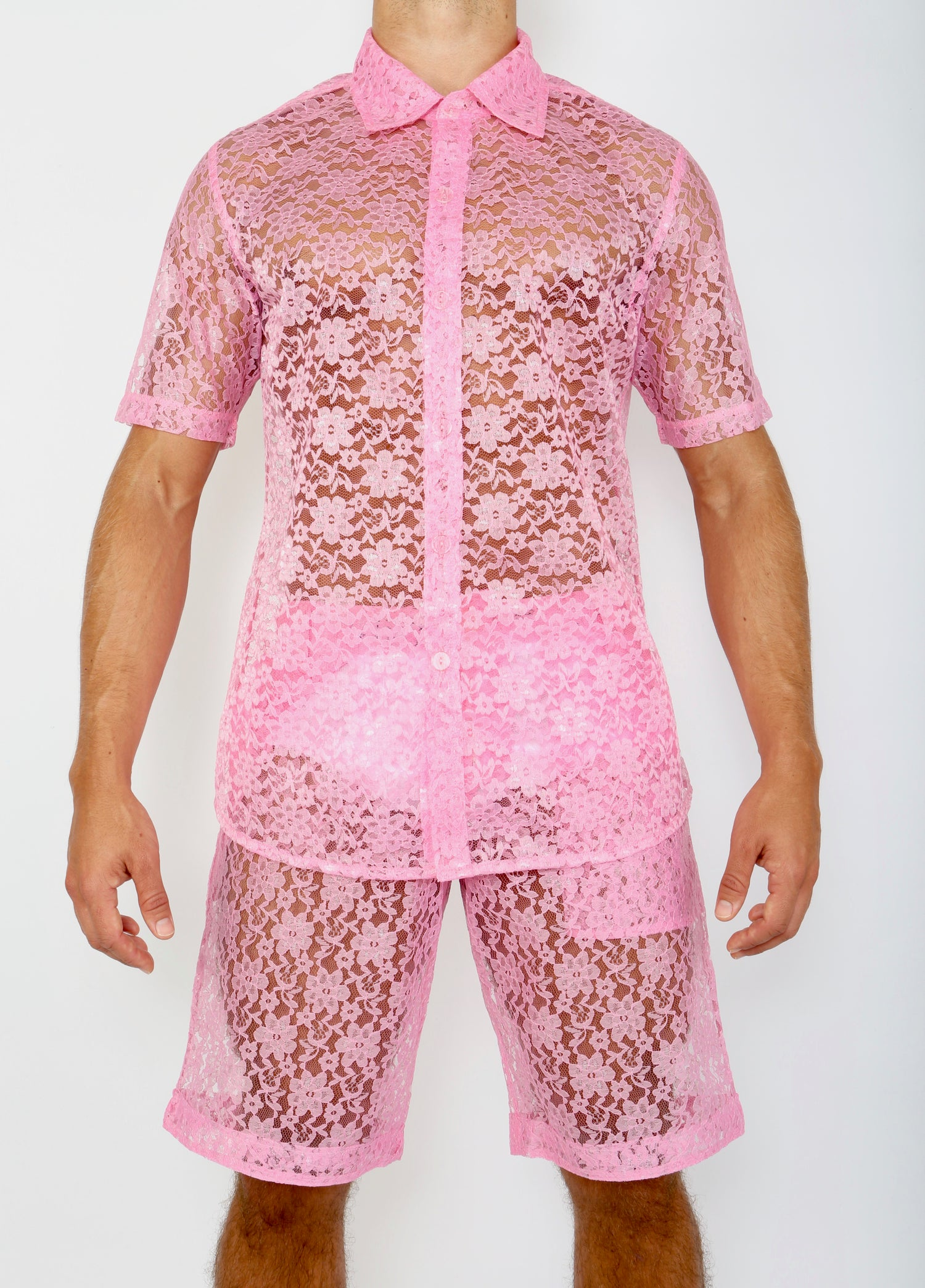 Image of LACE ME UP SHIRT- PINK