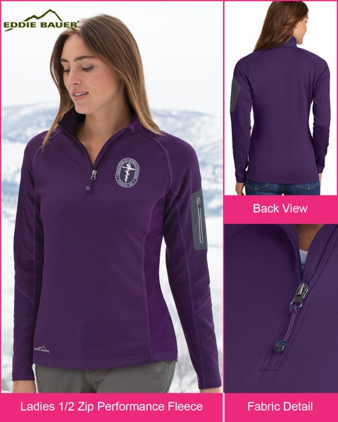 Image of Eddie Bauer AWS 1/2 Zip Performance Fleece ~ starts @