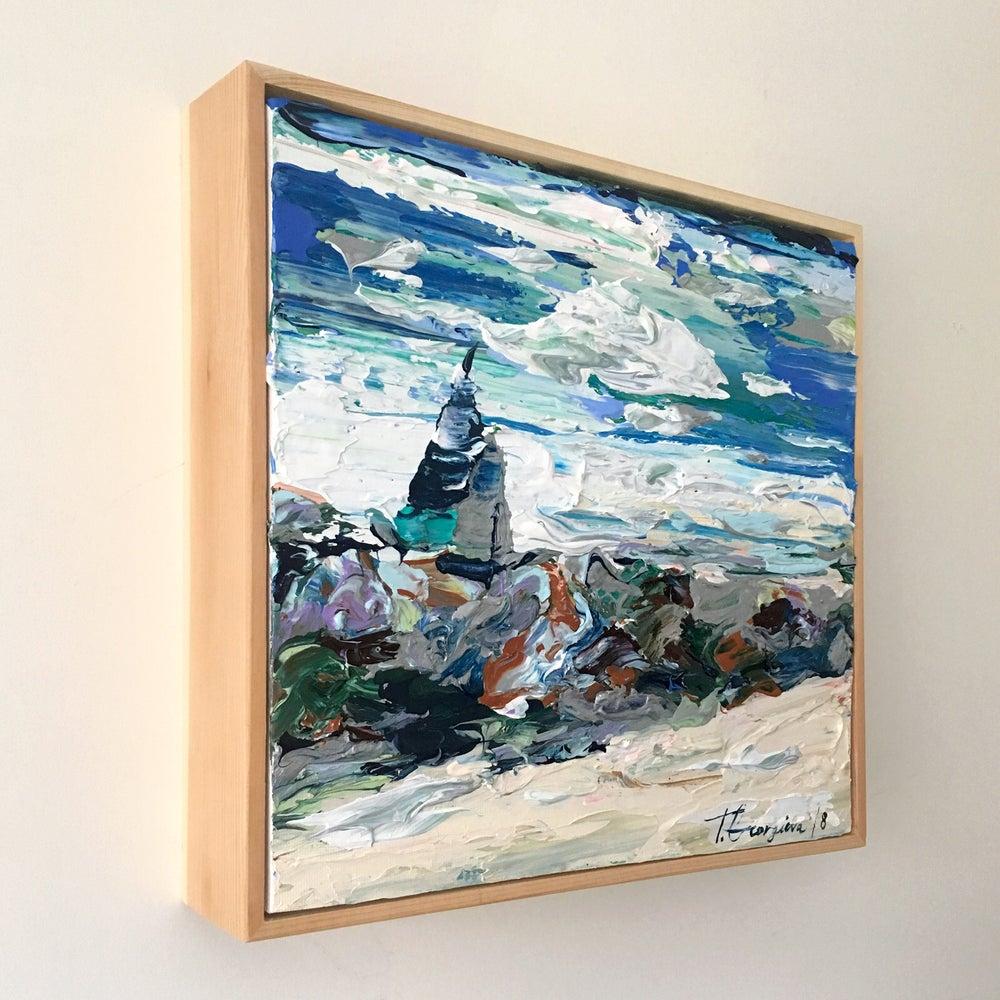 Image of Coastal no.30 - 30x30cm framed