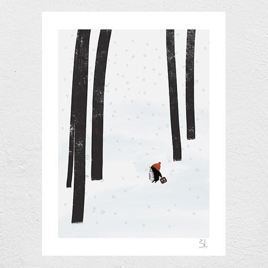 Image of Winter Tourist Print