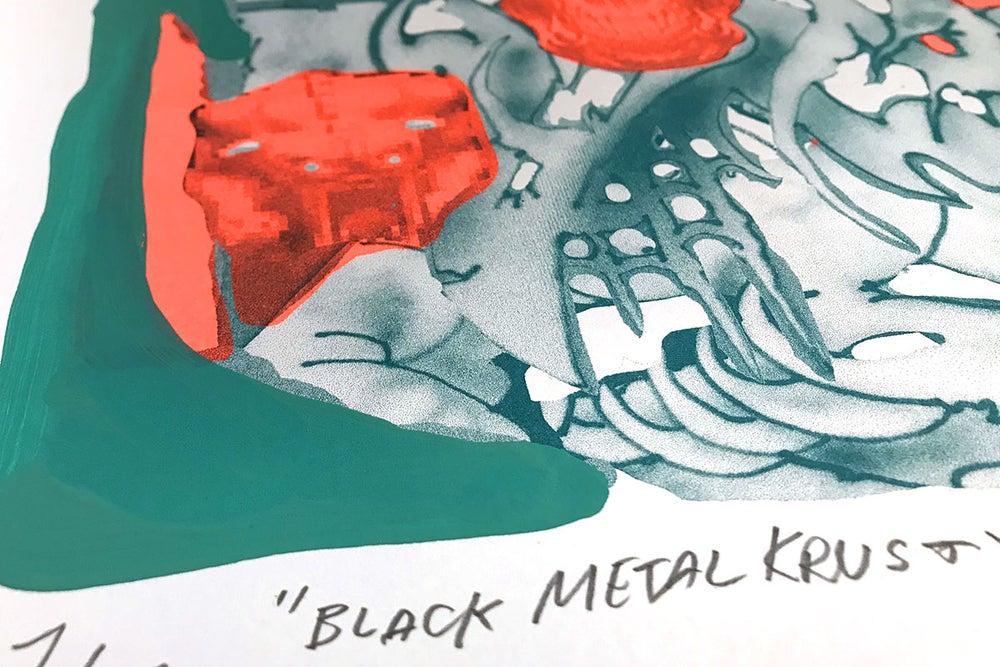 Image of Black metal Krusty (+handpainting)
