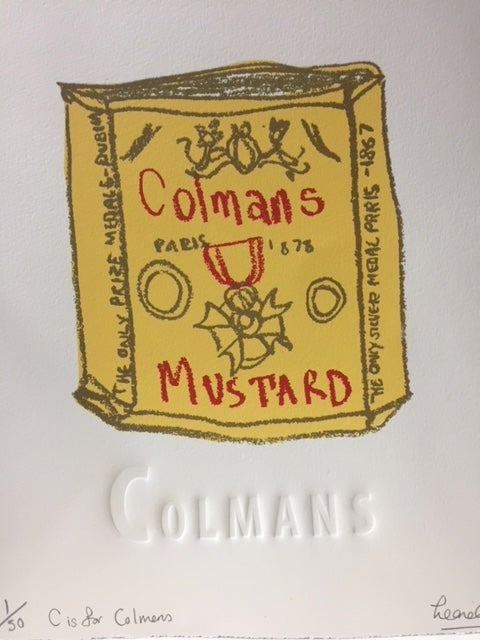 Image of C is for Colmans- Original sketch
