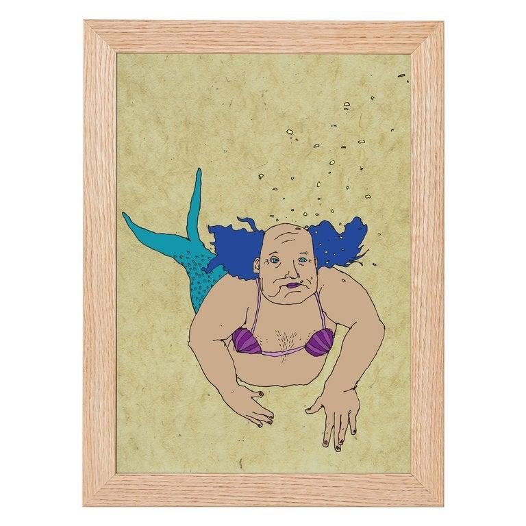 Image of Merman Colour Print