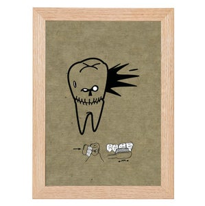 Image of Angry Tooth Skull Print