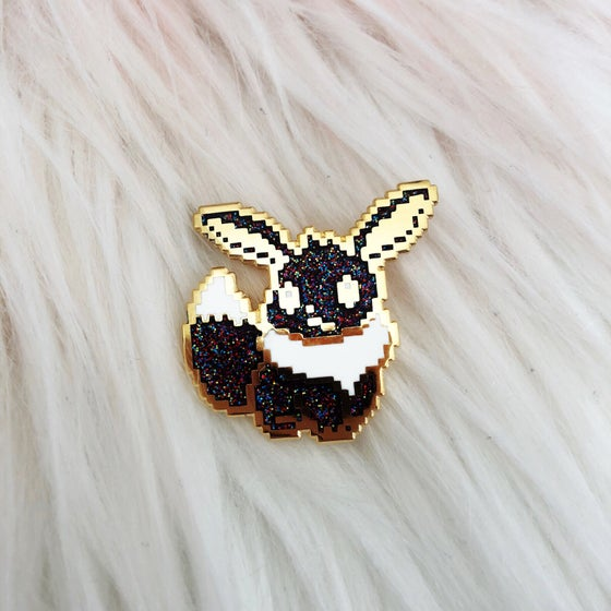 Image of LE100 Galaxy Eevee Enamel Badge