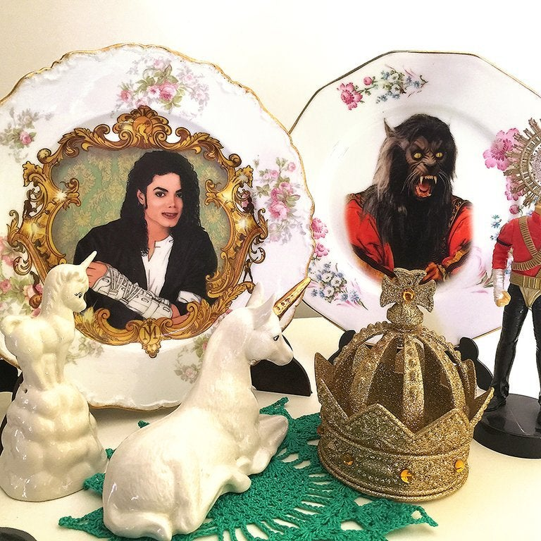 Image of The King Of Pop - Vintage Fiance Plate - #0578