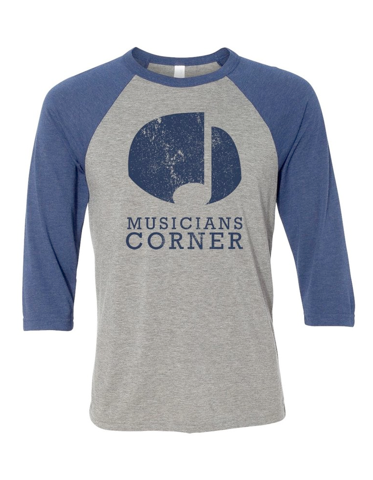 Image of The City That Listens Baseball Shirt (Grey/Navy)
