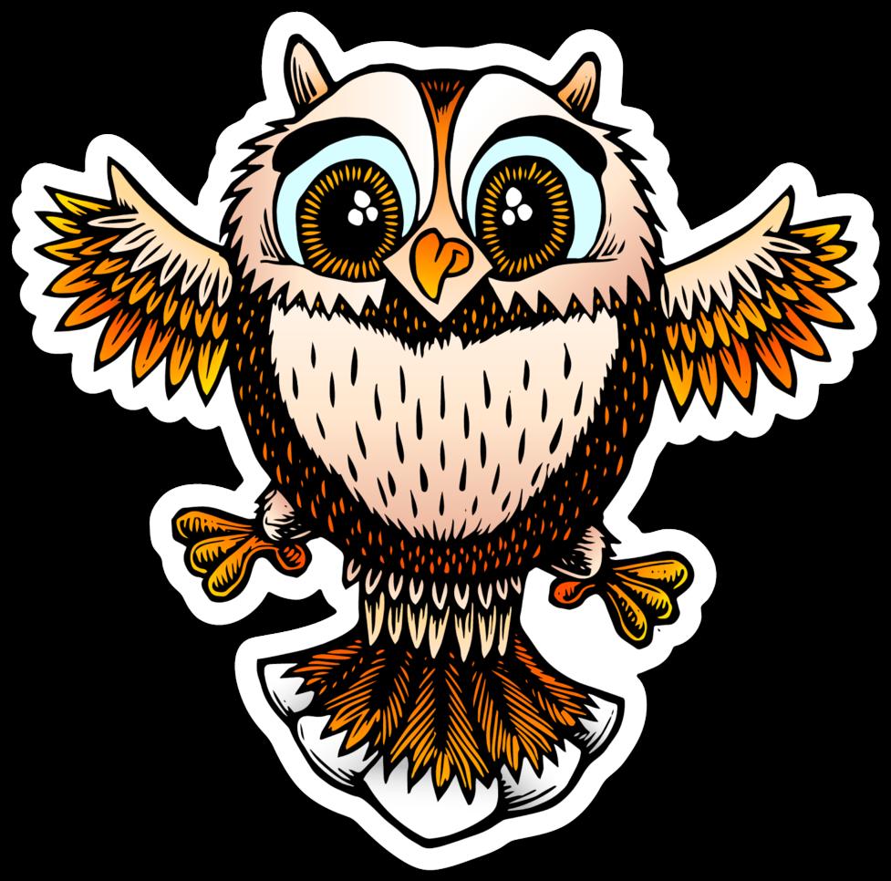 Image of Cute little owl sticker