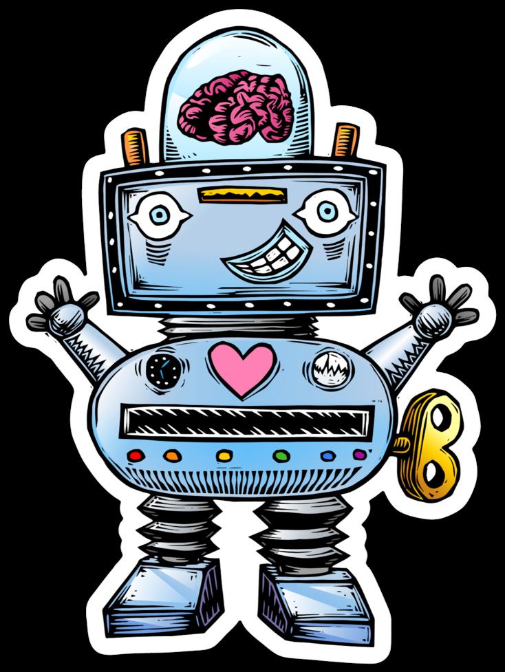 Image of Robot Sticker