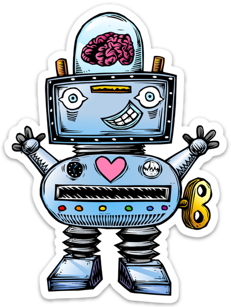 Image of Robot Sticker