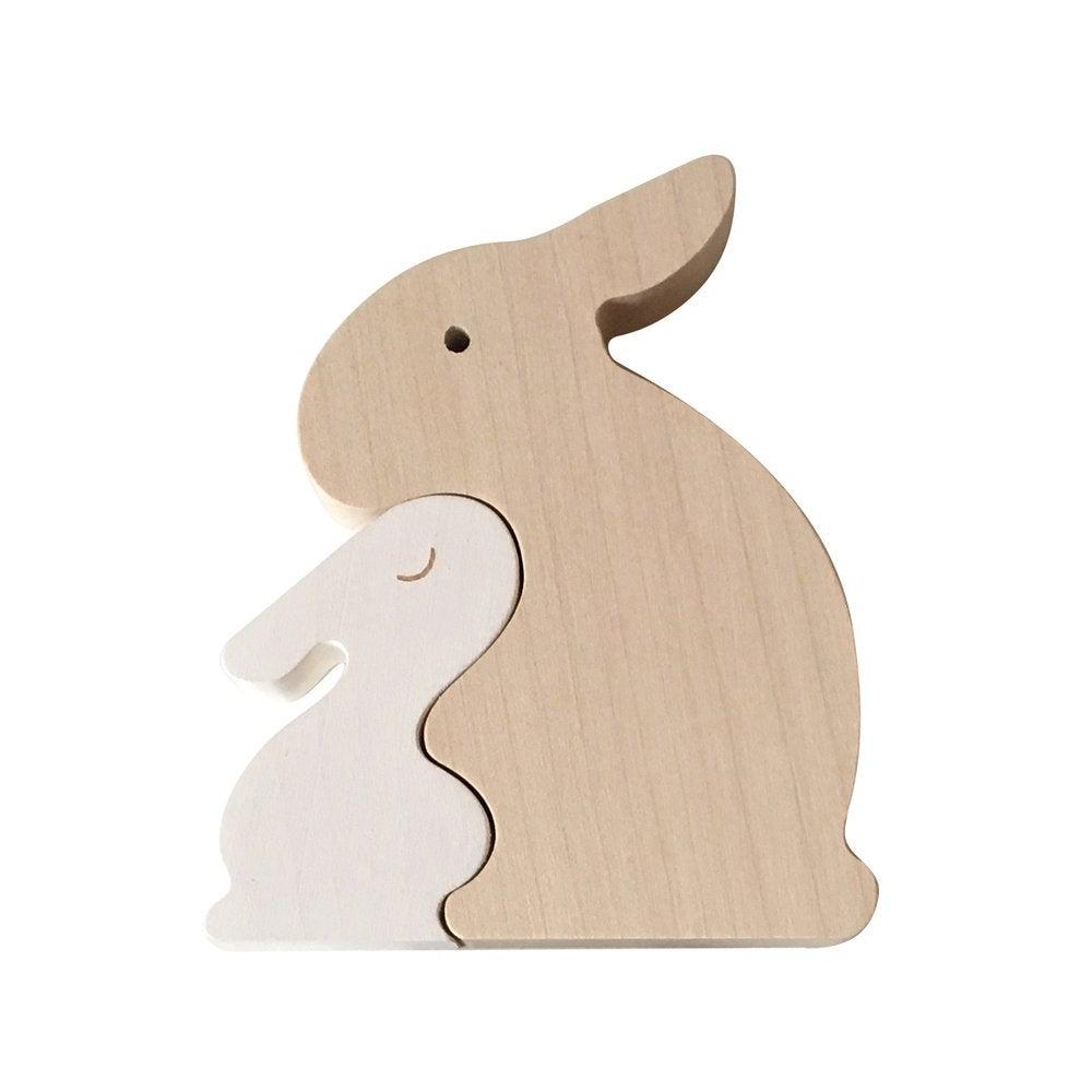Image of Puzzle Lapin blanc