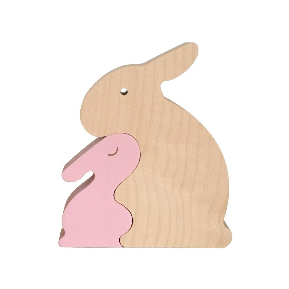 Image of Puzzle Lapin rose