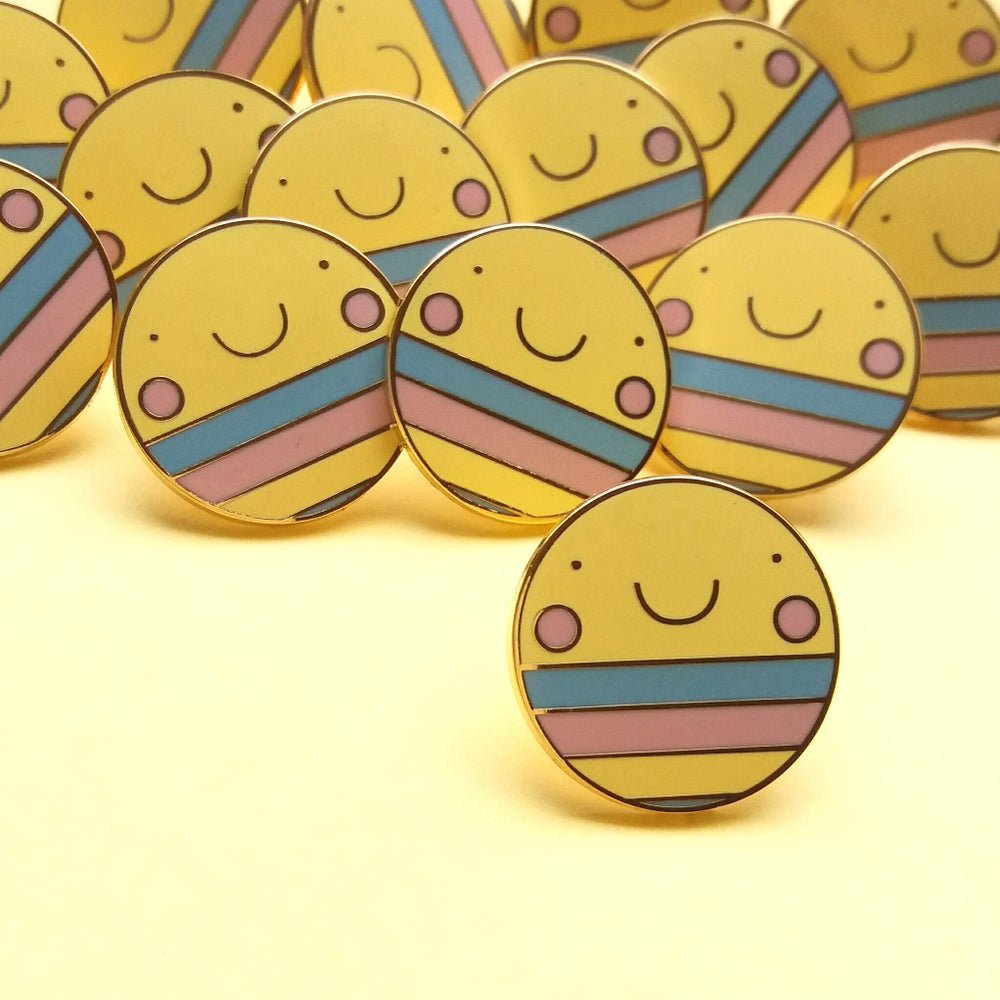 Image of Happy As Larry - Smiley Hard Enamel Pin