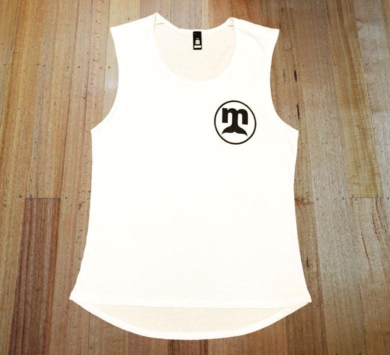 Image of White Circle Logo Singlet - Ladies