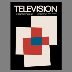 Television - 2017 NYE Poster - PRE-ORDER