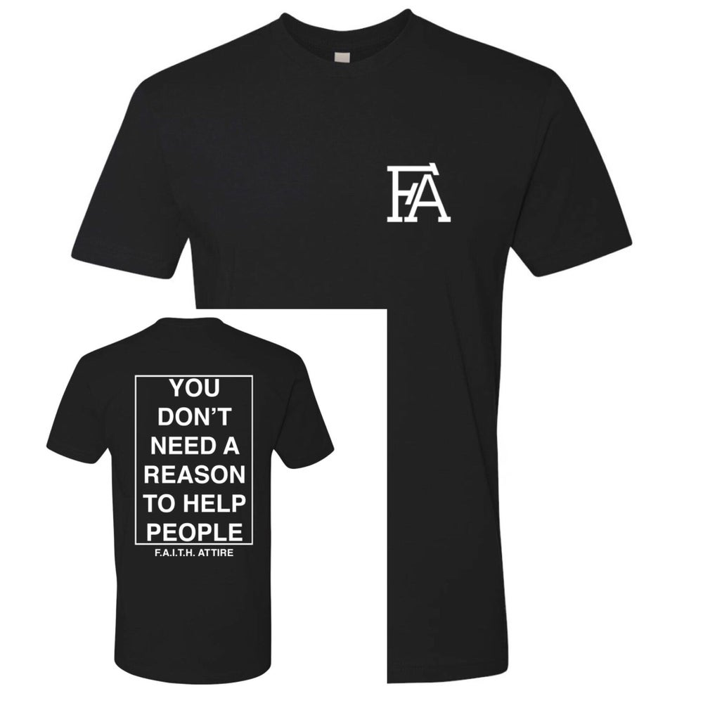 "Image of ""Help People"" Black tee"