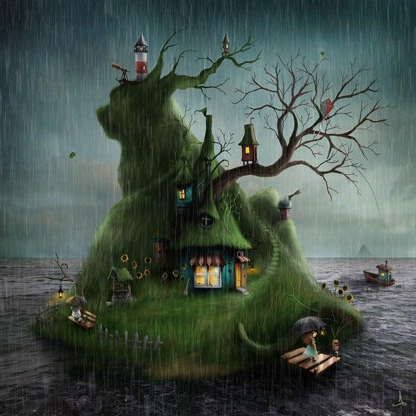 """Felicias Island"" (autumn) - Alexander Jansson Shop"