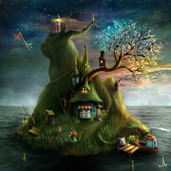 """Felicias Island"" (spring) - Alexander Jansson Shop"