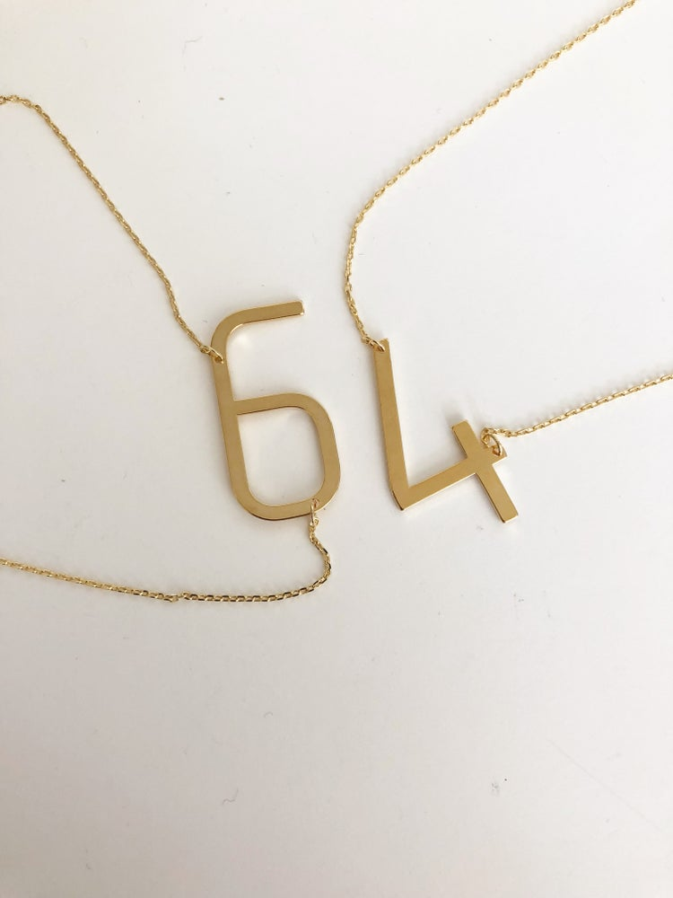 Image of Chunky number necklace