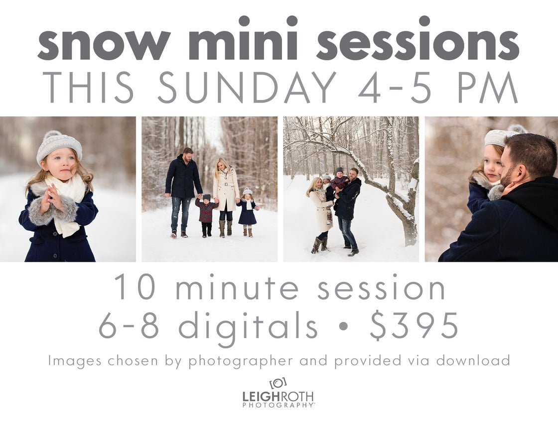 Image of 2018 SNOW MINI SESSIONS - SUNDAY, JAN 14