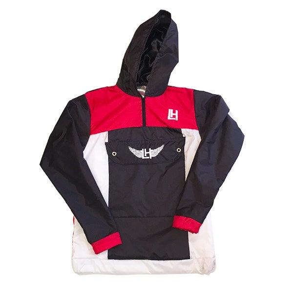 Image of LH Windbreaker (Black/Red)