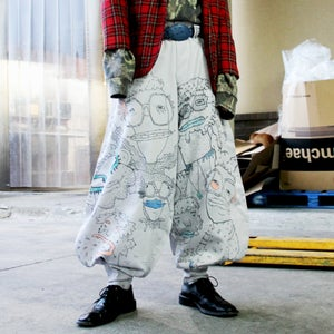Image of Hand Doodled Japanese Workman Pants