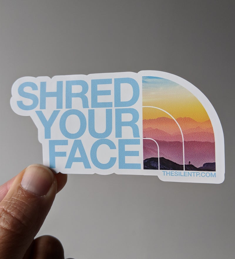 Image of Shred Your Face (blue)