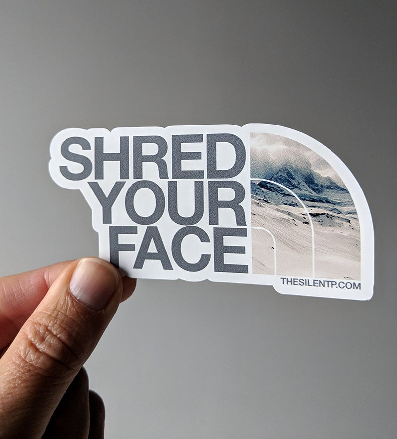 Image of Shred Your Face (grey)