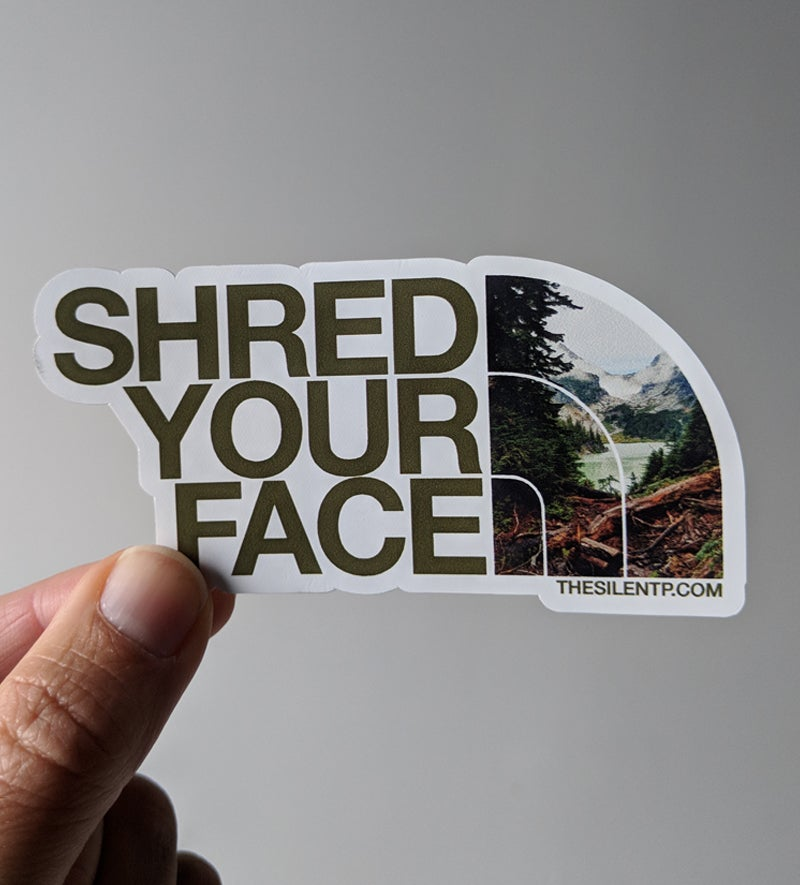 Image of Shred Your Face (brown)