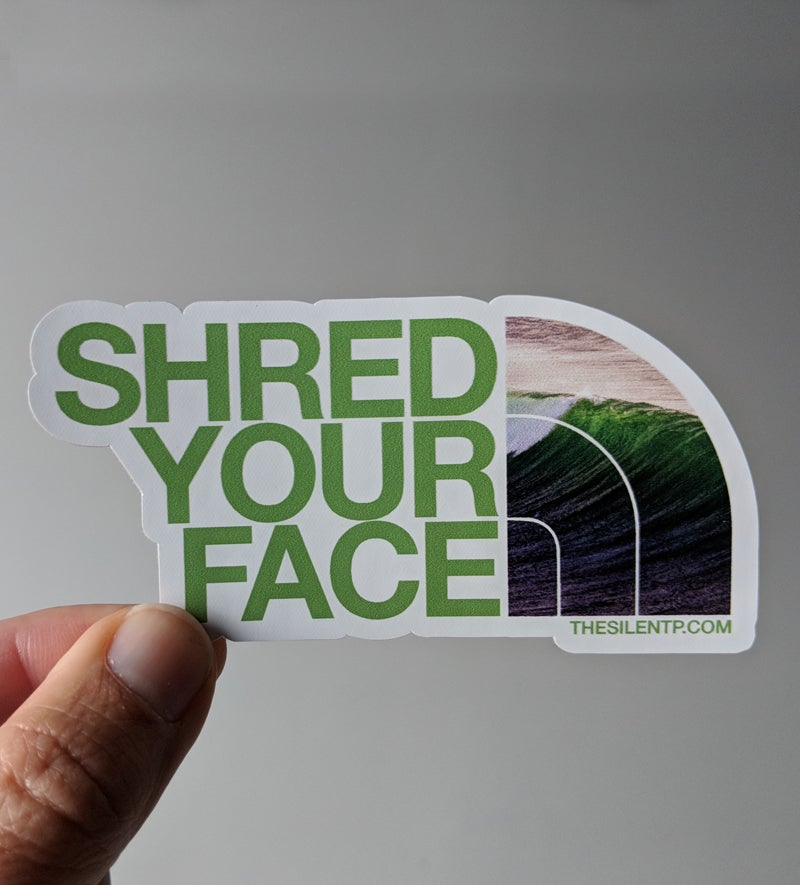 Image of Shred Your Face (green)