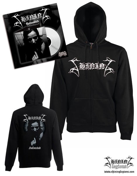 "Image of PREORDER Shining ""V-Halmstad"" bundle hoodie plus white vinyl"