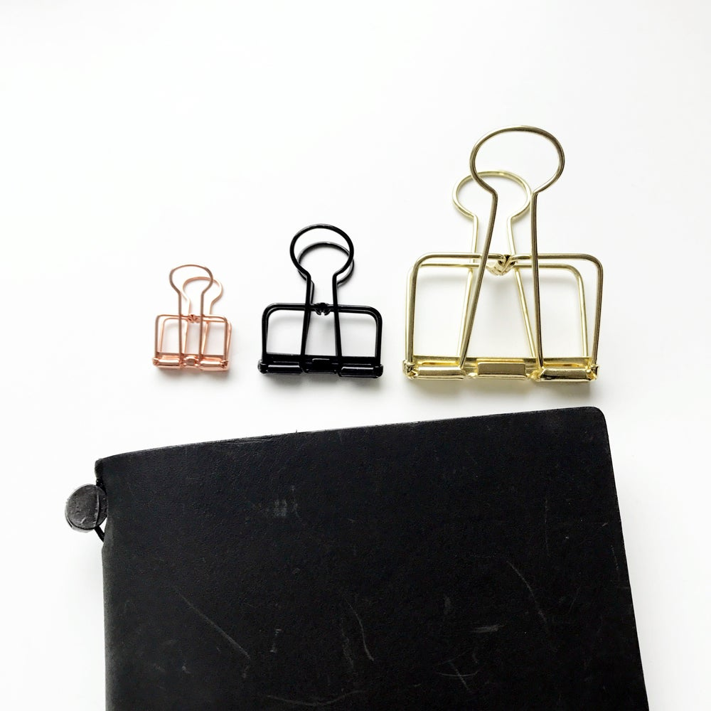 Image of Tools to Liveby Binder Clips - 3 sizes in 5 colors