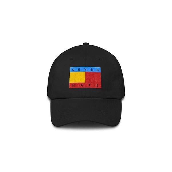Image of The Never Hate Dad Hat in Multi on Black