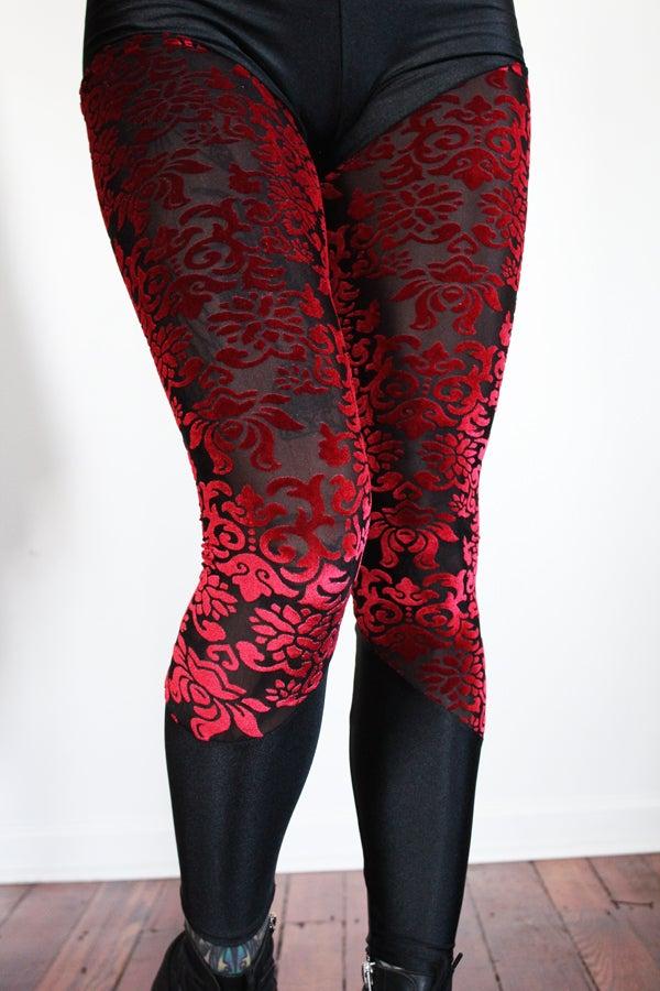 Image of Red Burn Out Velvet