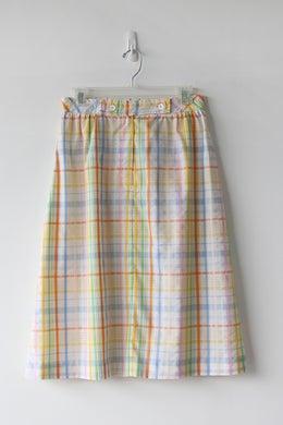 Image of Jantzen Happy Plaid Cotton Skirt