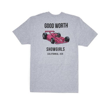 Image of GOOD WORTH & CO. - GRAND PRIX TEE (HEATHER GREY)