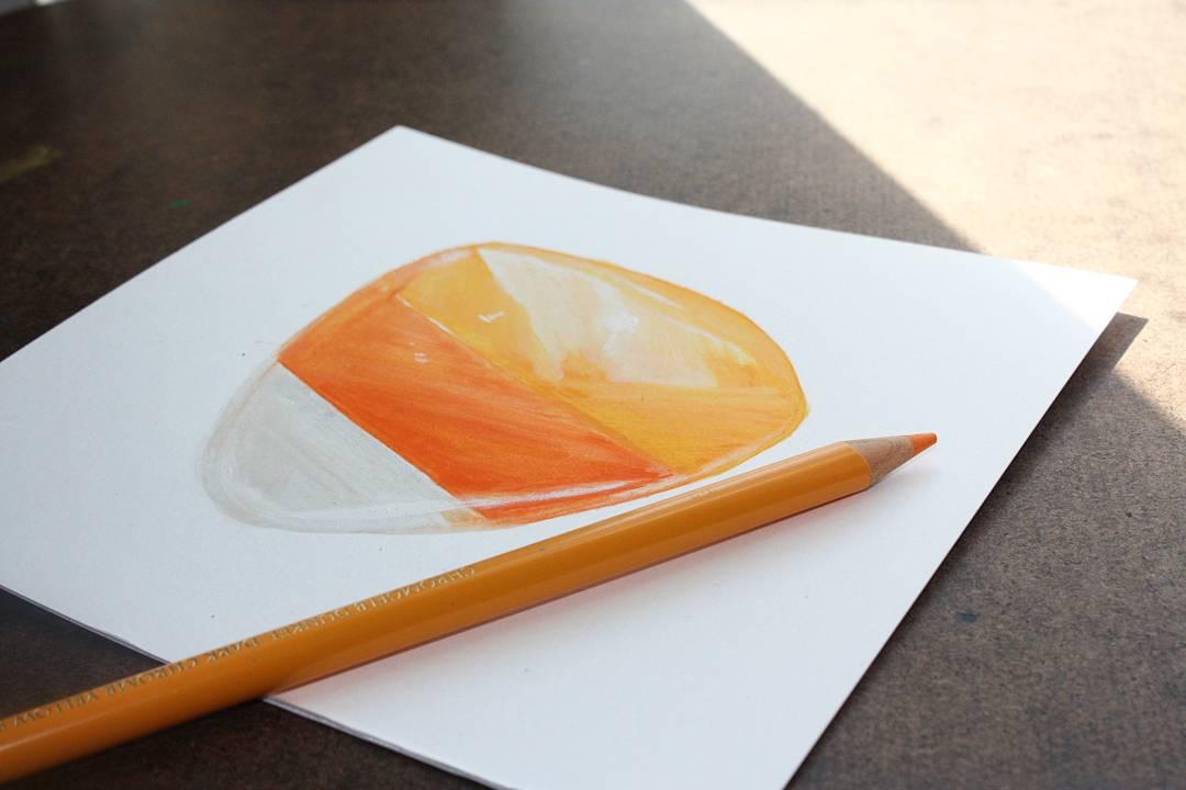 Image of Original. White moonstone, orange aventurine & yellow aventurine candy corn crystal