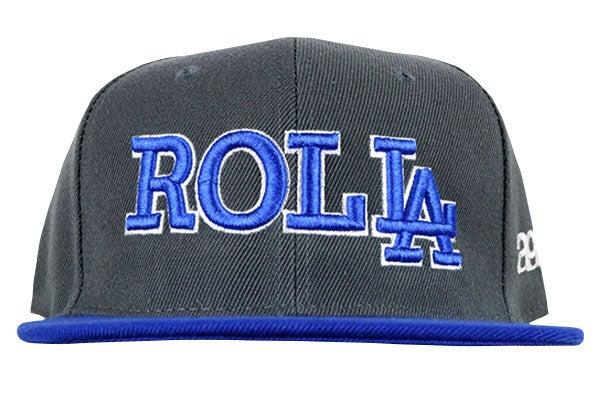 "Image of AGGRO Brand ""ROLL LA"" Snapback Hat"