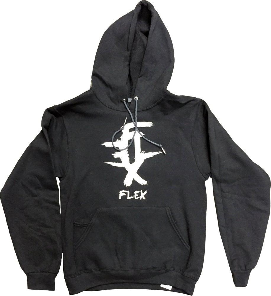 Image of FLEX Logo hoodie (Black)