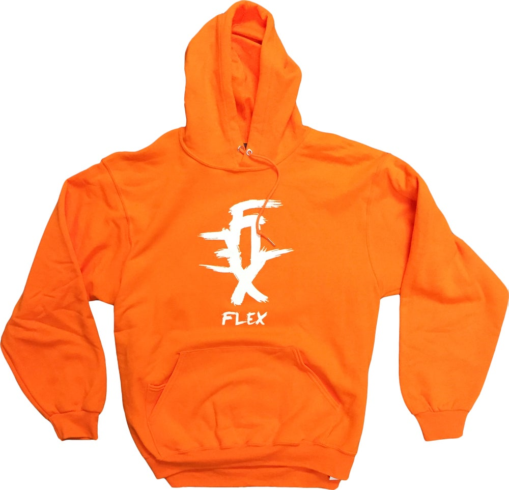 Image of FLEX Logo hoodie (orange)