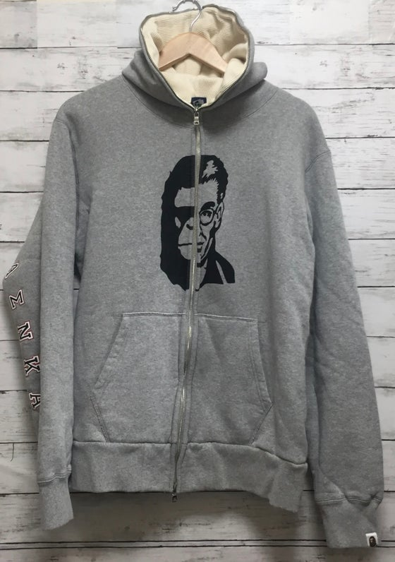 Image of Bape Frat Hoodie Half Man Ape Full Zip