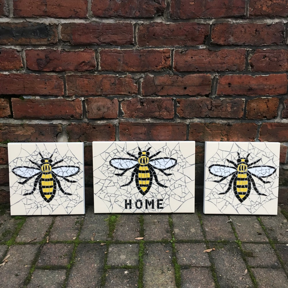 """Image of MANCHESTER WORKER BEE """"HOME"""" Mosaic"""
