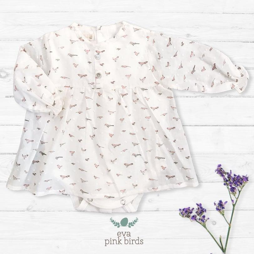 Image of Vestido Eva Pink Birds (antes 42.90€)