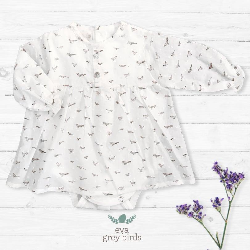 Image of Vestido Eva Grey Birds (antes 42.90€)