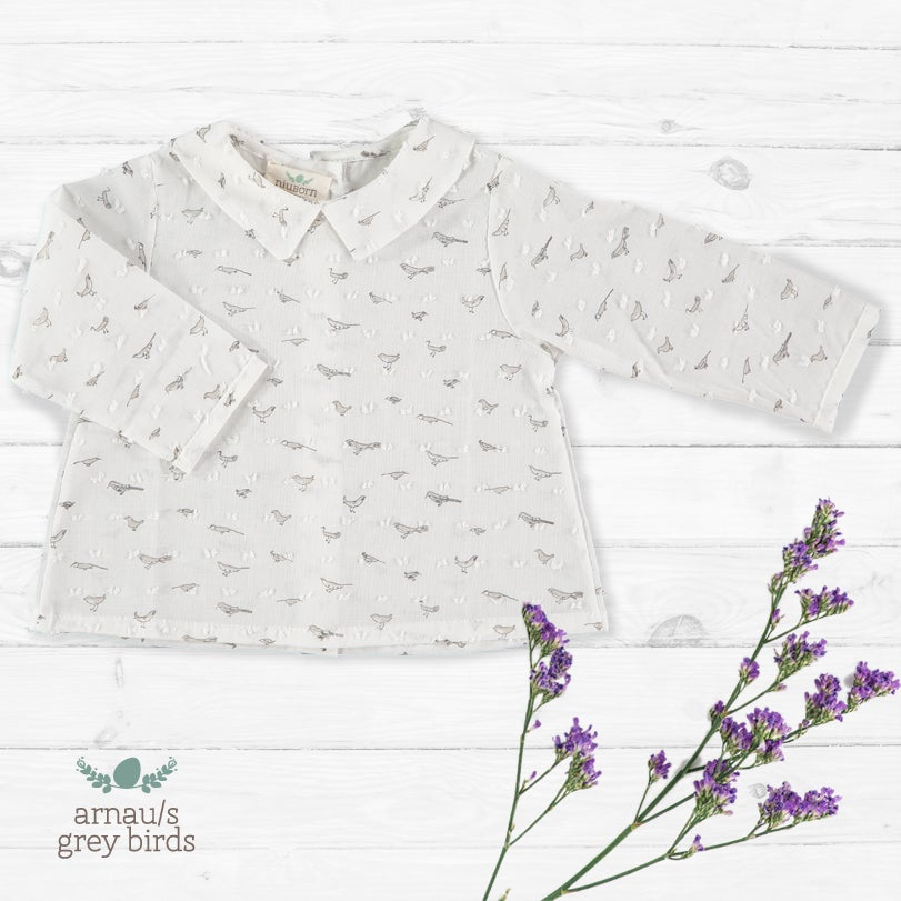 Image of Camisa Arnau/S Grey Birds (antes 33€)