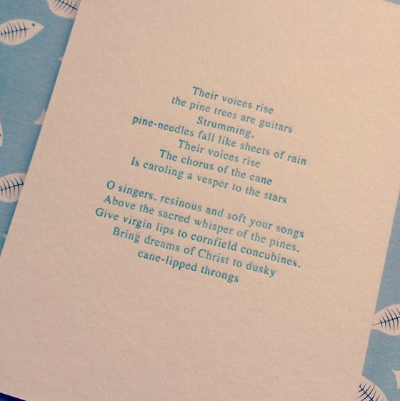 Image of Letterpress Poetry Print - J Toomer