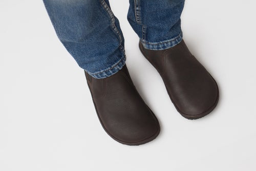 Image of Chelsea boots in Dark Oak leather